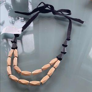 NWT Ann Taylor LOFT wood bead necklace